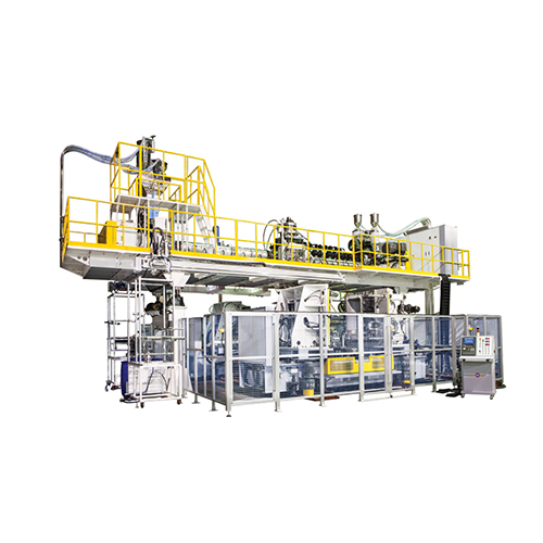 Co-Extrusion 3 Layer, Double Station Blow Moulding Machine