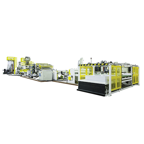 Three Layer Co-Extrusion Abs Sheet Extrusion Line