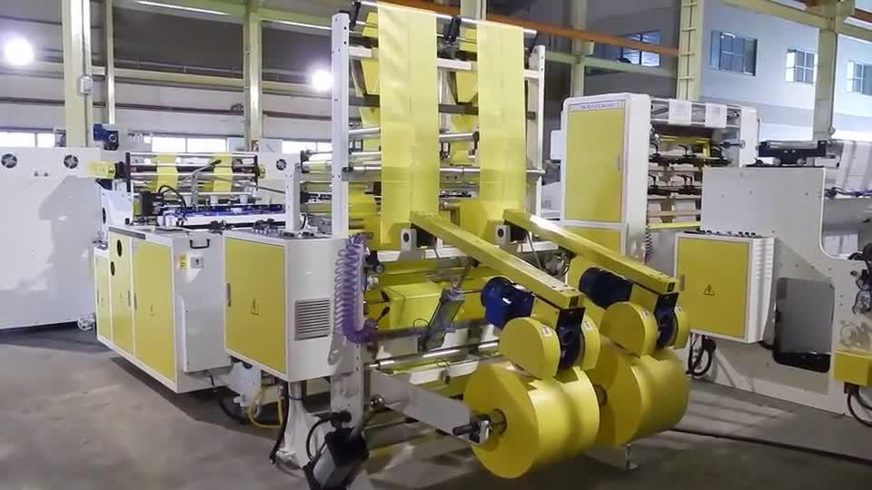 Super High Speed Fully Automatic 2 Lines Coreless Bags On Roll Machine with Servo Control
